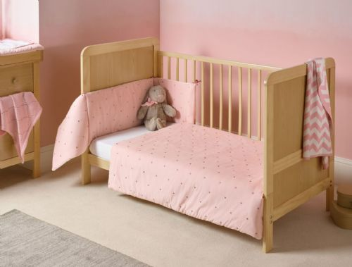 Cot Bed Set - Lullaby Stars Blush